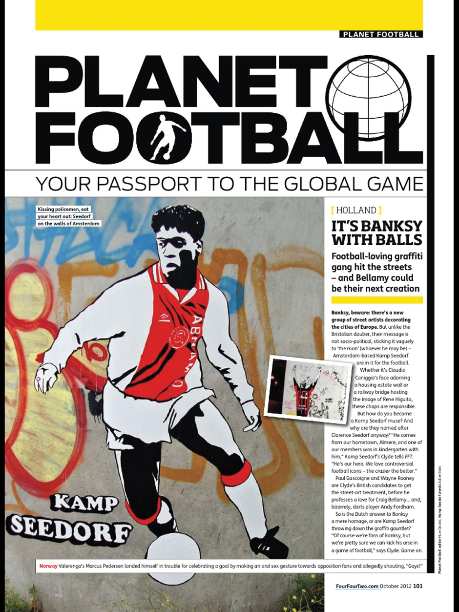 Kamp Seedorf hits the British Football Magazine 442