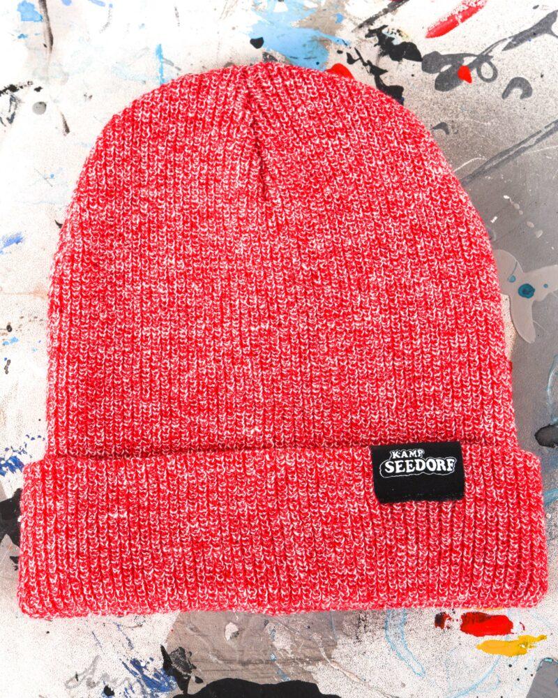 beanie heather red